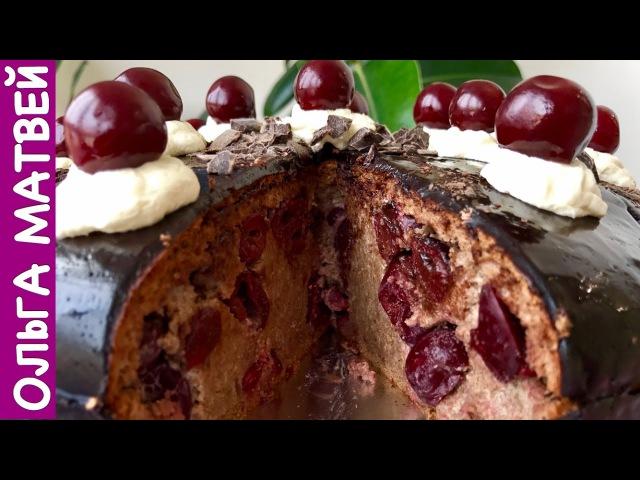 Торт Пьяная вишня Нежный и Сочный | Cherry Cake, English Subtitles