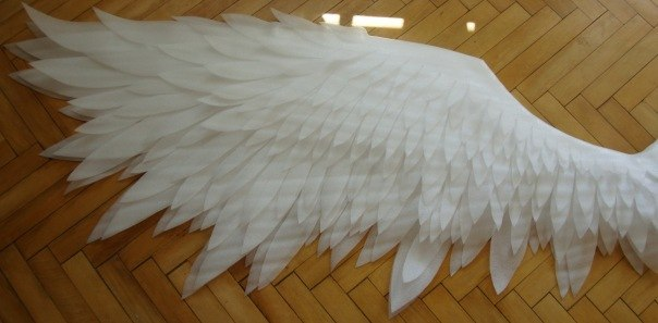 Как сделать крылья для лебедя