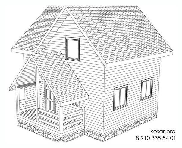 Одноэтажный дом с мансардным этажом 5024
