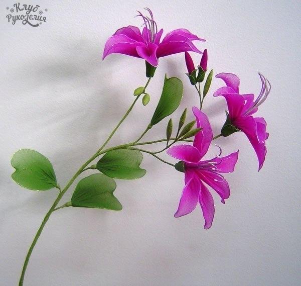 Цветы из капрона своими руками (6 фото) - картинка