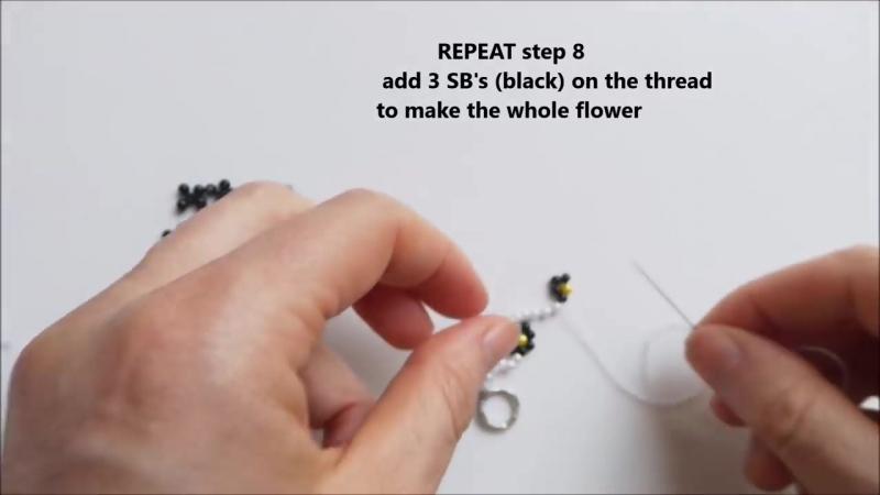 Floral bracelet tutorial Easy beading pattern for beginners