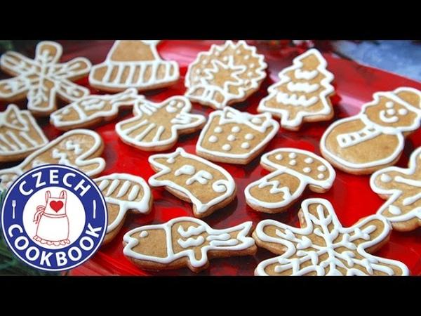Рождественское печенье с белковой глазурью Gingerbread Cookies Recipe - Perníčky - Czech Cookbook