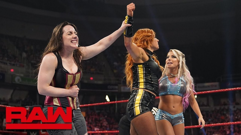Becky Lynch teams with Nikki Cross Alexa Bliss Raw May 20 2019
