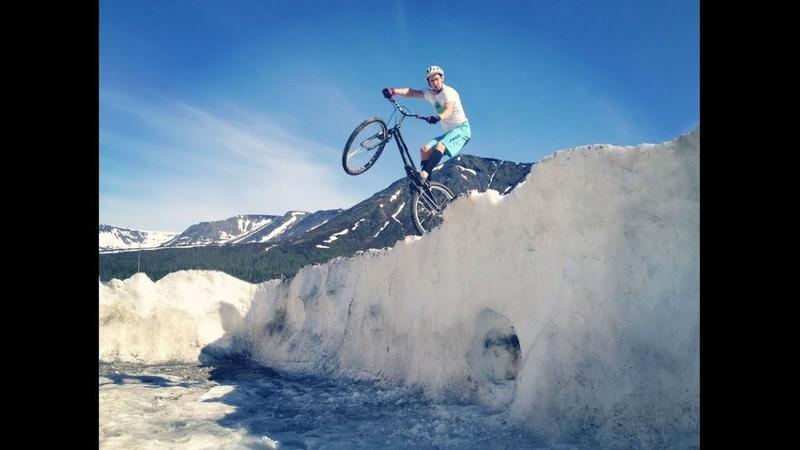 Biketrial in Apatity Mikhail Sukhanov Велотриал Велошоу