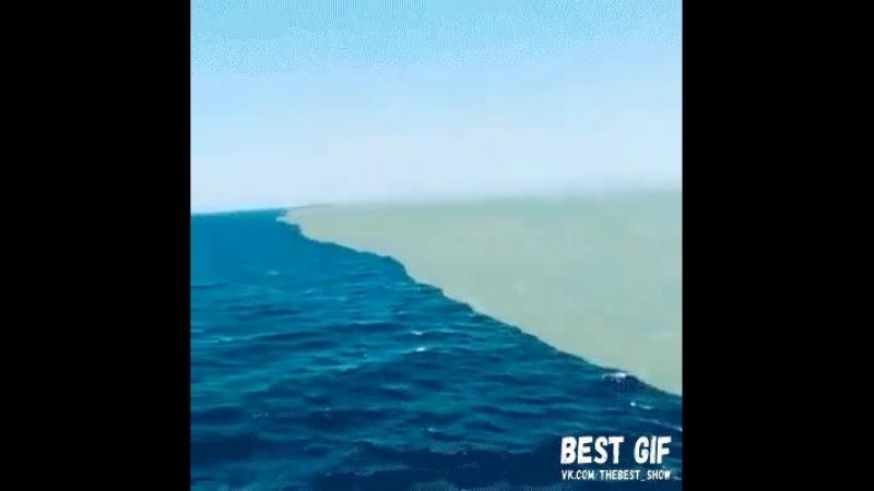 Место, где встречаются Атлантический и Тихий океан. Их воды соприкасаются, но не смешиваются..mp4