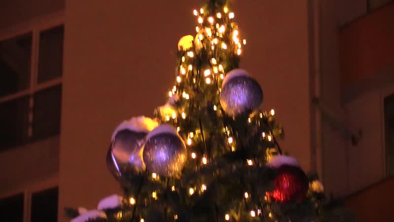 Відкриття новорічної ялинки у мікрорайоні Каскад