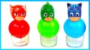 Learn colors with pj masks water balloons toys and magformers magnet playset review playclaytv