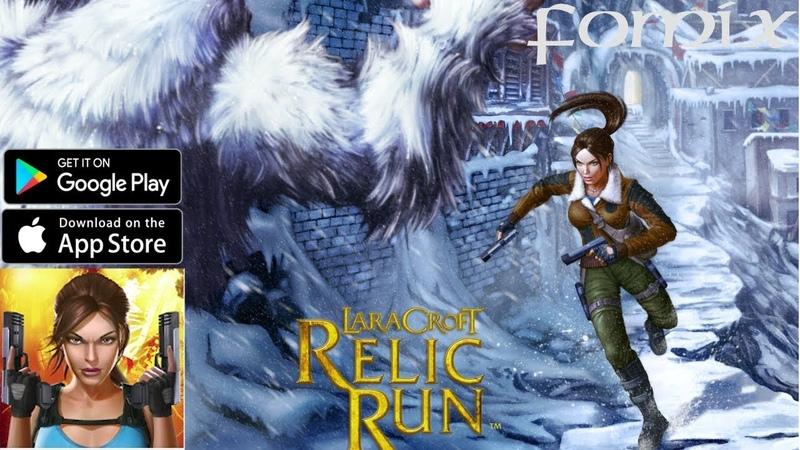 Lara Croft Relic Run первый взгляд обзор Android Ios