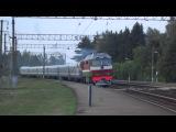 ТЭП70-0208 с дизель-поездом ДР1П-085