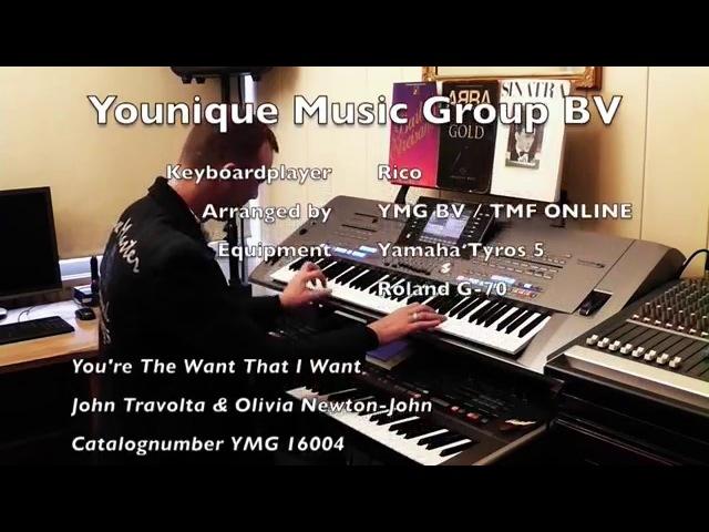 John Travolta Olivia Newton John You're the One That I Want Yamaha Tyros 5 Roland G70 by Rico
