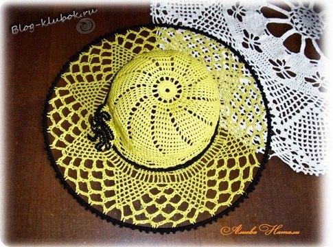 Летняя шляпка крючком для девочки от Натали Алиевой…. (2 фото) - картинка