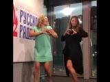Беременная Регина Тодоренко станцевала тверк на Русском Радио