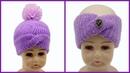 Шапка чалма часть 1 Как связать шапку Вязание по кругу Hat of the turban part 1