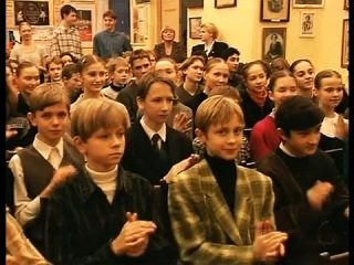 Students of Vaganova meet Asylmuratova as new AD of the Vaganova Ballet Academy in 1999