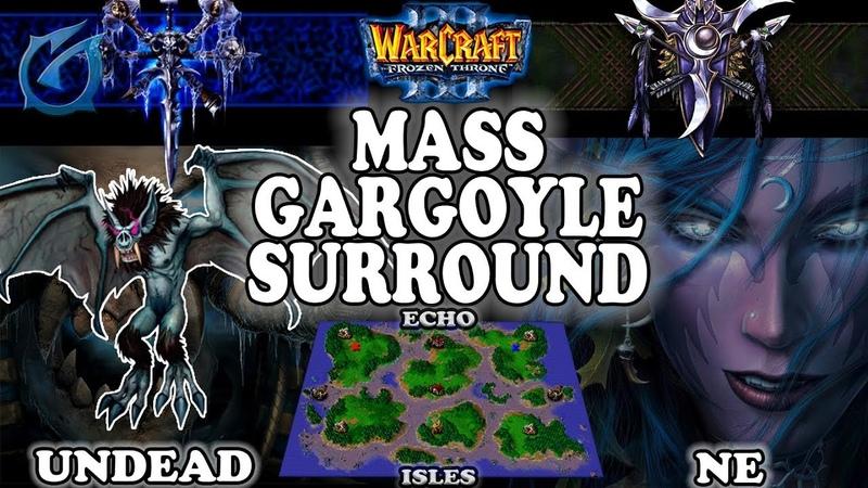 Grubby | Warcraft 3 TFT | 1.30 | UD v NE on Echo Isles - Mass Gargoyle Surround