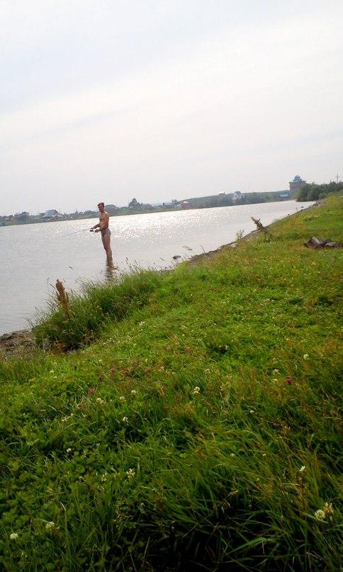 Красивый вид не берегу озера Белое