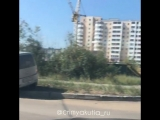 ДТП на перекрестке Можайского в Якутске. 07.08.18г