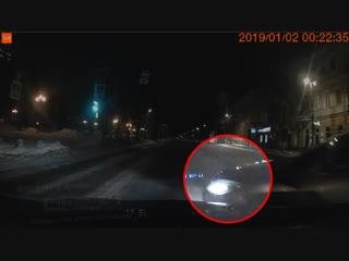 МОМЕНТ дтп Ленина 02.01.2019