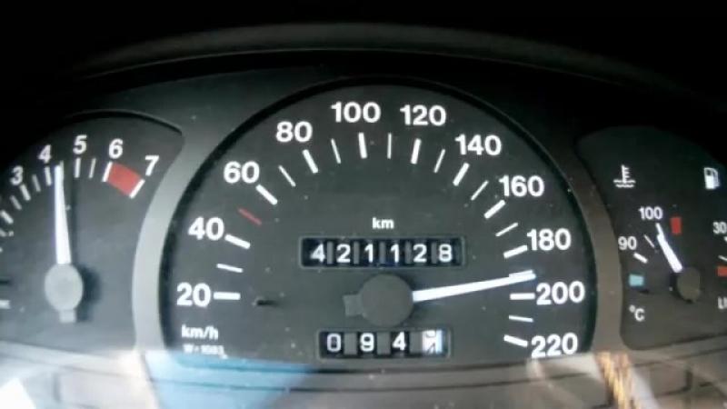 Opel Vectra A 1.8i 90PS __ 0-200 km-h __ 0-100 km-h in 13,8 sek..mp4