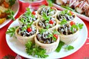 Тарталетки с паштетом и грибами