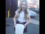 Sabrina carpenter does the ice bucket challenge
