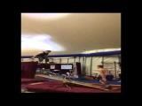 Нестандартная тренировка гимнастов
