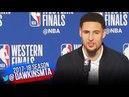 Klay Thompson Postgame Interview Warriors-Rockets Game 6 2018 WCF FreeDawkins