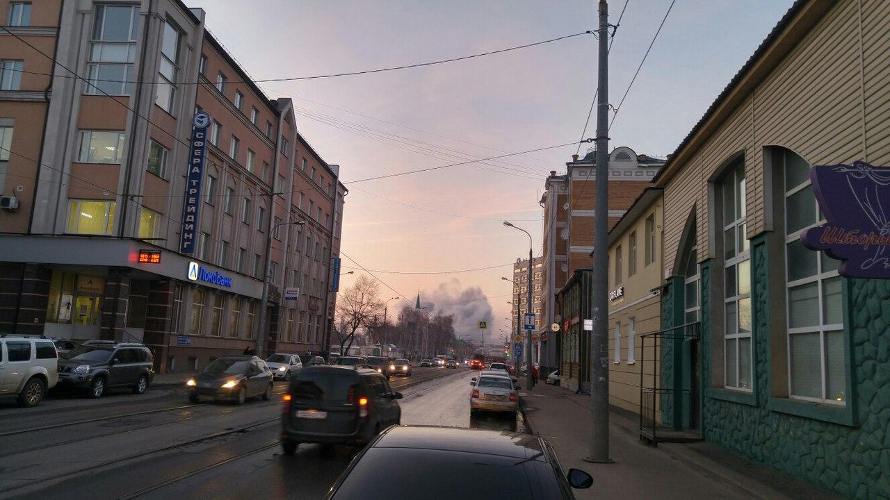 НаКолхозном рынке вКазани потушен пожар