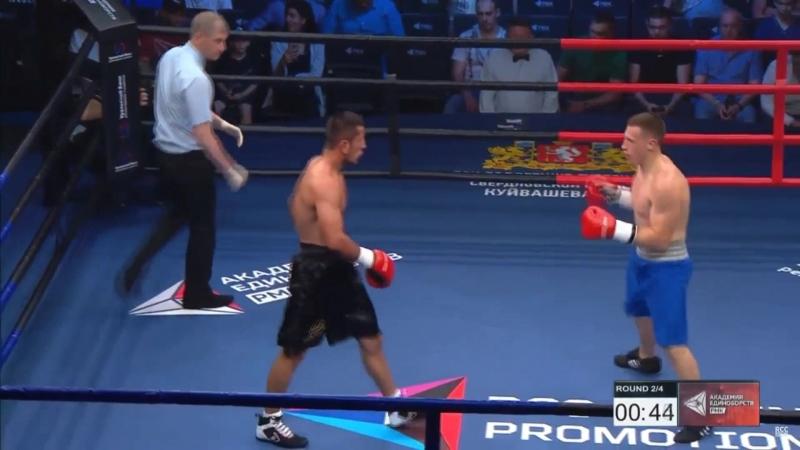 Турнир по проф. боксу РМК. Александр Блинов vs Ахмаджон Инаков