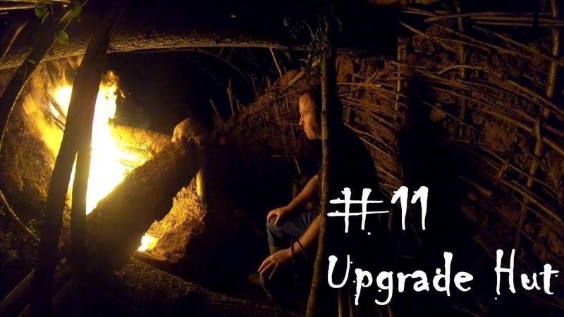 Primitive Technology: Upgrade Hut on fallen tree 11 (Season-1)