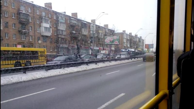 Троллейбус №7|Trolleybus №7 Вул.Чорнобильска - Ст.м.Шулявська