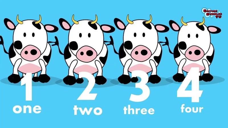 научиться считать по-английски от 1 до 5 со звуками животных