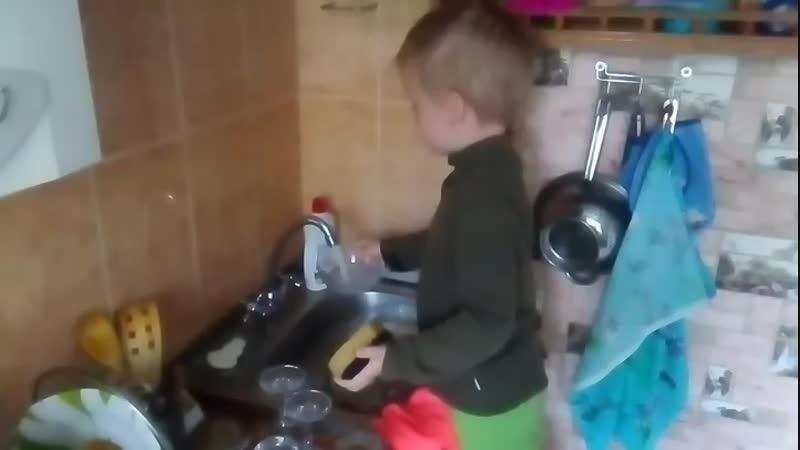 Санёк и мытье посуды