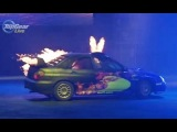Crazy Slow-Mo Subaru On Fire! - Top Gear Live 2014 Glasgow
