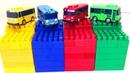Учим Цвета Мультики Машинки Автобусы Тайо Тачки Игрушки Развивающие Мультфильмы