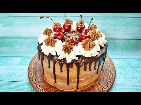 Шварцвальдский торт Черный лес - шоколадно-вишневое наслаждение!
