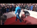 Pitbull fight Albania SHAT vs SPAYK black nose 1xGL Part1 09 march 2014