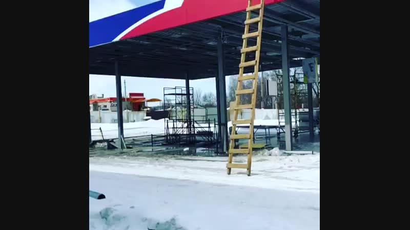 Начали работы по монтажу системы вентиляция и кондиционирование на АЗС в г.Алексин, Тульской обл. монтажвентиляции вентиляци