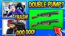 NINJA DAEQUAN REACT TO DOUBLE PUMP COMING BACK? (SHOTGUN BUFF) Fortnite FUNNY SAVAGE Moments