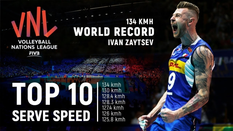 TOP » 10 Serve (Ace) Speed. New World Record 134 Km_h. Volleyball Nations League 2018.