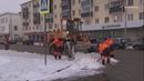В Серпухове круглосуточно убирают снег