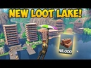 TURNING LOOT LAKE INTO A CITY 45 000 Brick Fortnite Funny Fails and WTF Moments 279