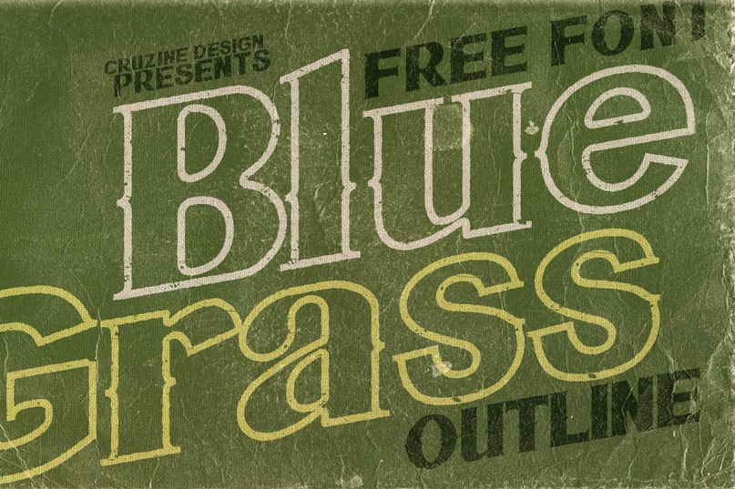 Download Bluegrass OUTLINEff font (typeface)