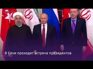 В Сочи встретились президенты России, Ирана и Турции