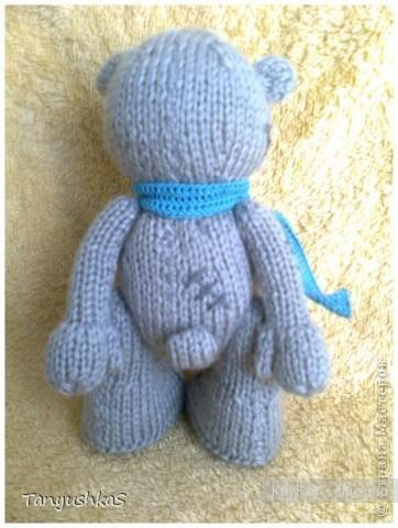 Мишка Тедди - вязание спицами,