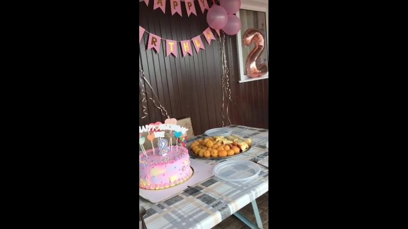 Наш праздничный отдых🎂🎉🎁☀️🎊🍬🎈 день рождения доченьки