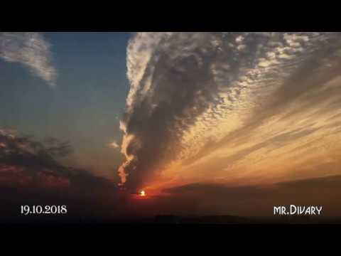 Москва Тёплый стан закат 19 10 2018 movie mr Divary
