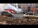 Полная версия пожара автобуса на ул. Удмуртская. 20.03.2019. 22 маршрут. Ижевск