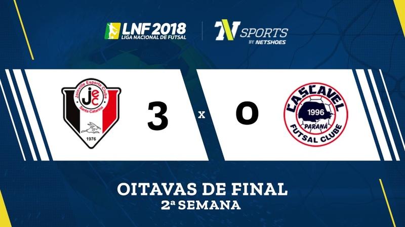 LNF2018 Joinville 3 x 0 Cascavel Gols Oitavas Volta