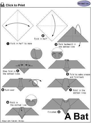 оригами(череп,тыква и так